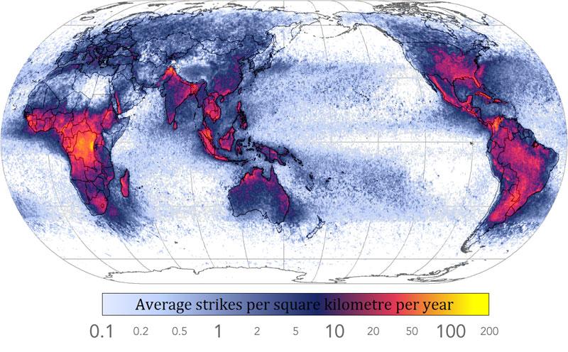 frecuencia de los rayos en el mundo 40 mapas que le ayudarán a entender el mundo