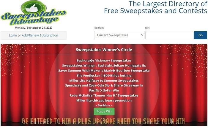 mejores sitios web de sorteos gratuitos