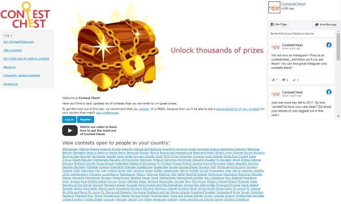 sitios web de alojamiento de concursos