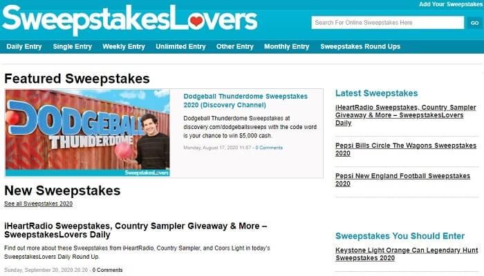 sitios web de sorteos de amazon