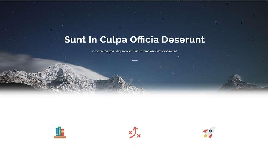 Plantilla web CSS gratuita - Sublime