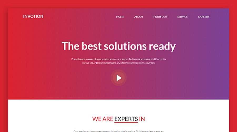 Invotion - Una plantilla web HTML y CSS creativa y con capacidad de respuesta gratuita