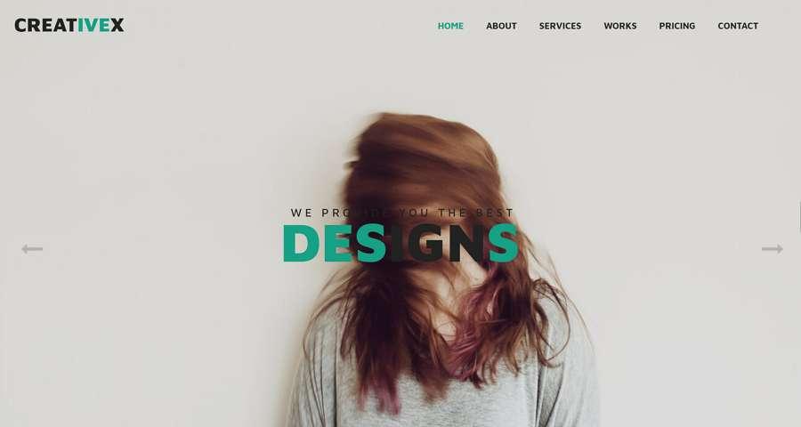 CreativeX - Creative Flat WebsiteTemplate con HTML, CSS, Bootstrap
