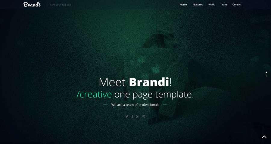 Brandi- Plantilla de negocios HTML5 responsiva de una página gratuita