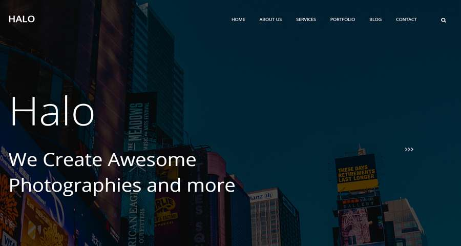 Halo - Una Plantilla Web CSS Multipágina Gratuita