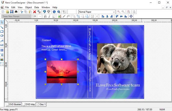 software creador de carátulas de dvd windows 10 3