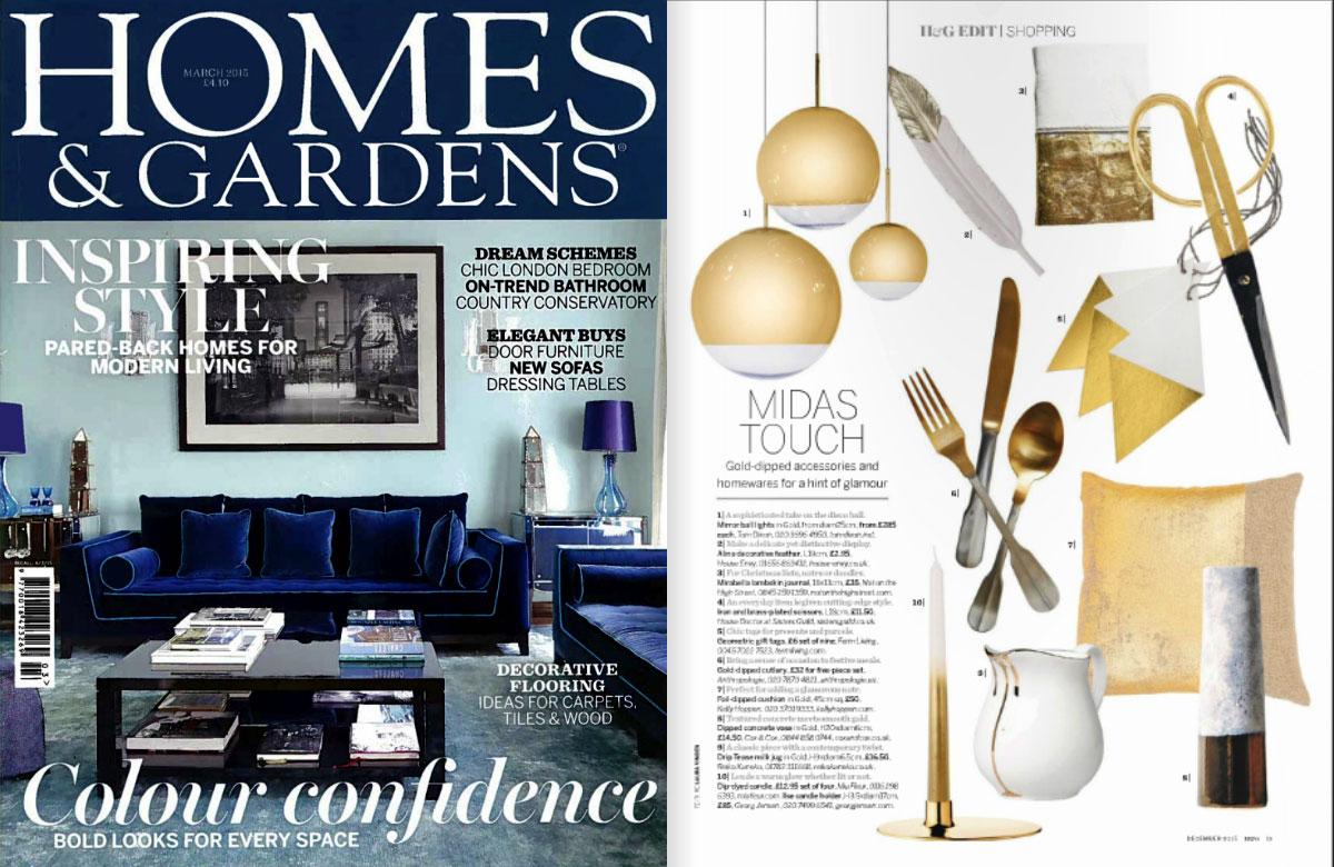 10 mejores revistas de diseño de interiores del Reino Unido Homes & Gardens.