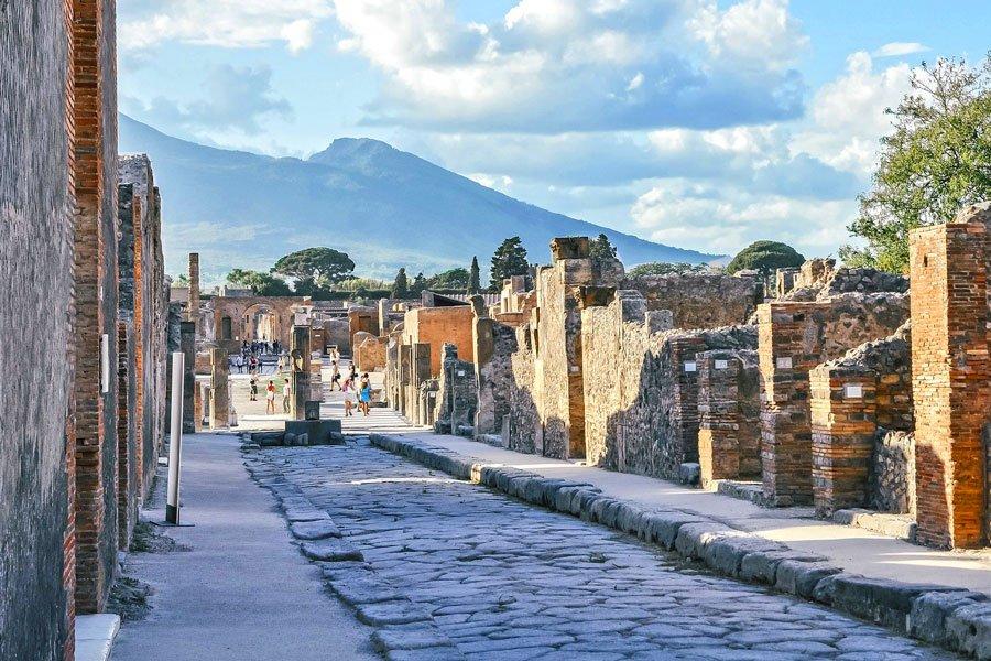 Visita virtual de ciudades, Antiguas ruinas de Pompeya