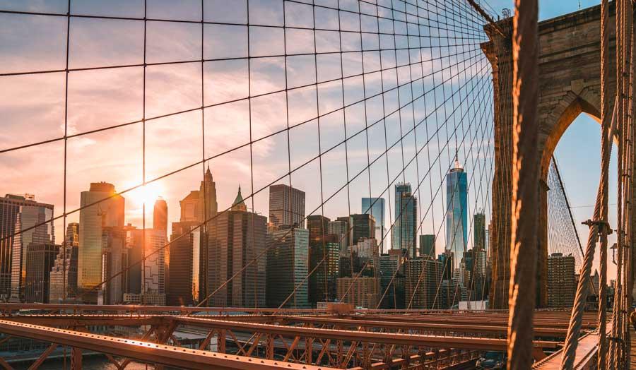 Visita virtual de la ciudad de Nueva York, Puente de Brooklyn en la ciudad de Nueva York