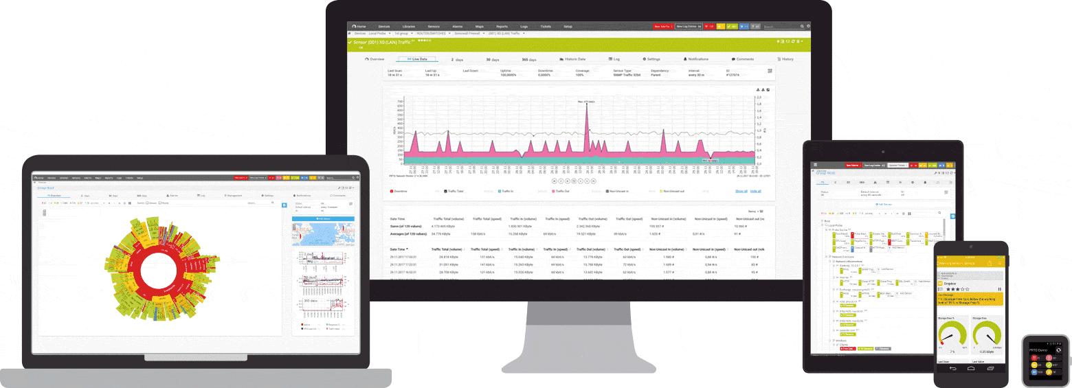 Software de gestión del servidor Paessler Router Traffic Grapher