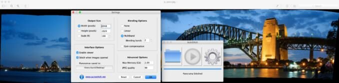 Software de cosido panorámico AutoStitch