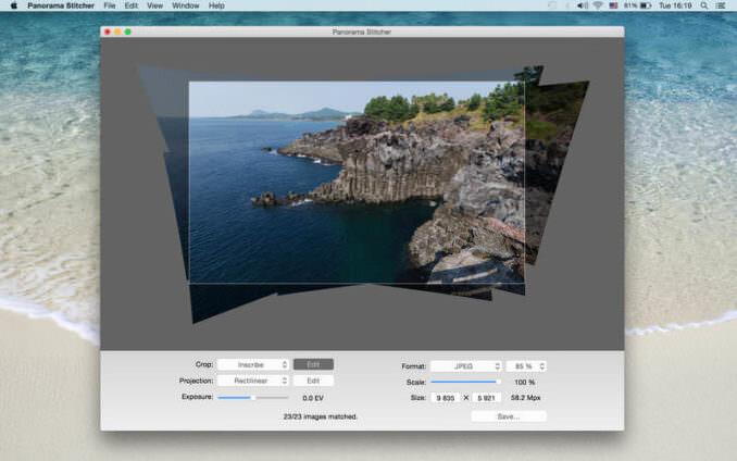 Software de costura panorámica Panorama Stitcher Mini