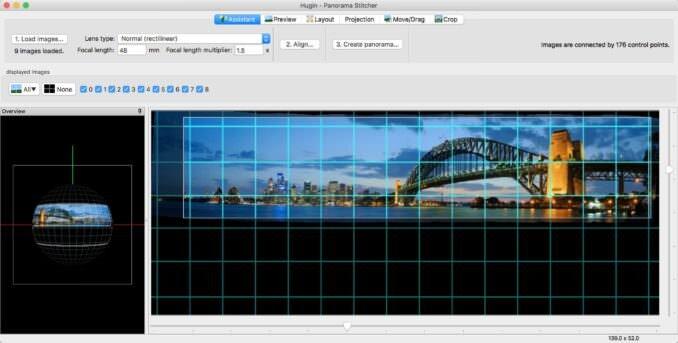 Software de cosido de panorámicas Hugin