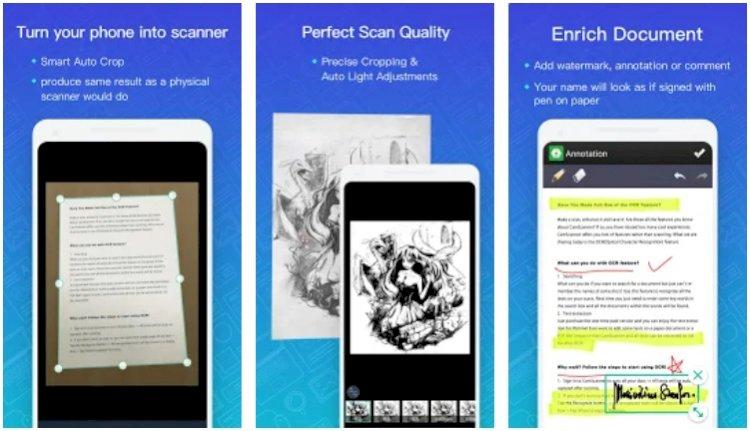 Las mejores aplicaciones de escáner de documentos para Androidcam scammer