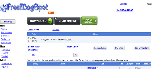 Los 10 sitios web más populares de descarga de revistas en PDF