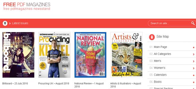 10 sitios web de descarga de revistas en PDF más populares
