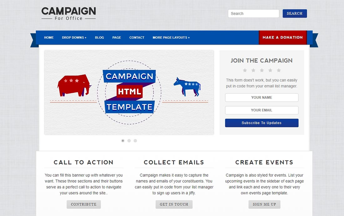 Design Crumbs _ Theme_ Campaign-HTML PHP template for web designers