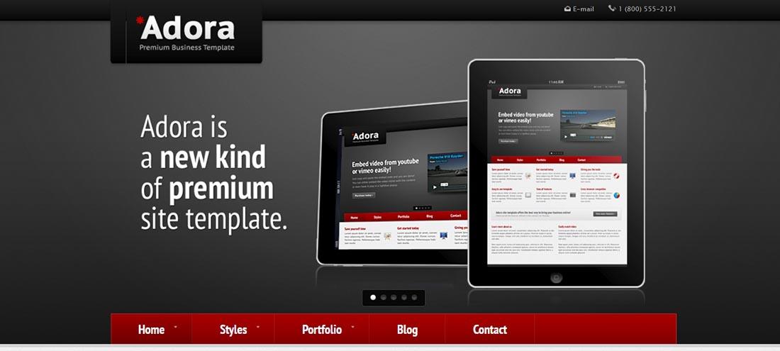Adora - Premium Business & Portfolio Template Preview - ThemeForest PHP template for web designers