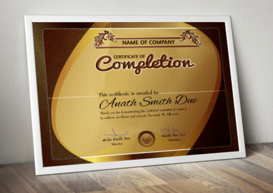 Certificado de descarga GRATUITO