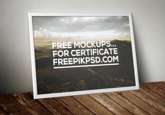 Descarga gratuita de certificado Mockup Psd