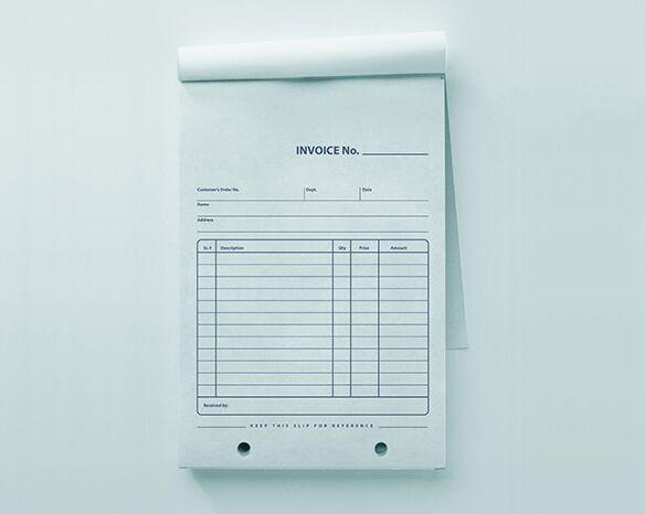 Free Company Retail Invoice Pad Mockup PSD