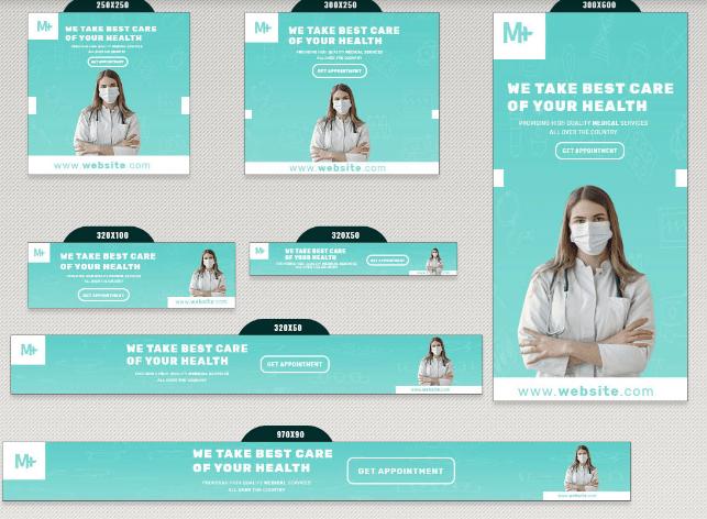 13 banners de salud médica