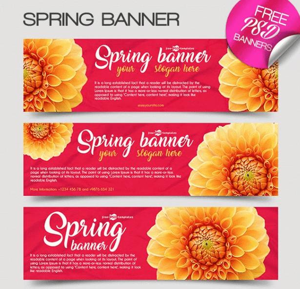 3 plantillas de banners de primavera gratis-min