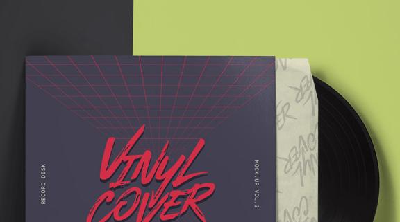 Psd Vinyl Cover Record Mockup Vol4