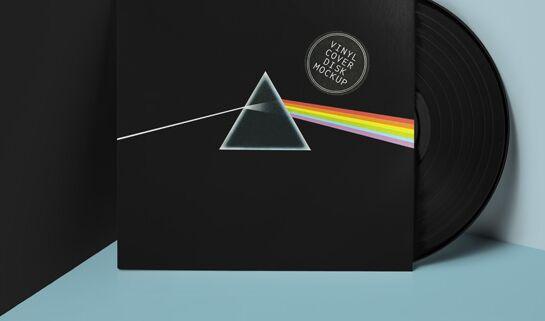 Psd Vinyl Cover Record Mockup Vol2