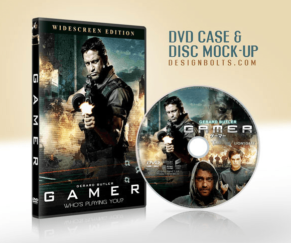 CD DVD gratuito Case & Disc Cover Mock-up PSD