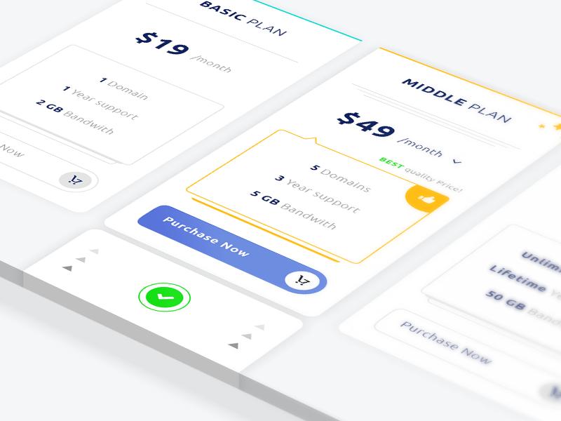 Tabla de precios simple