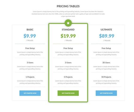 8 diseños de tablas de precios limpios gratis