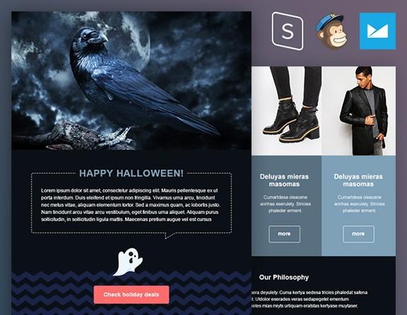Plantilla de correo electrónico de Halloween