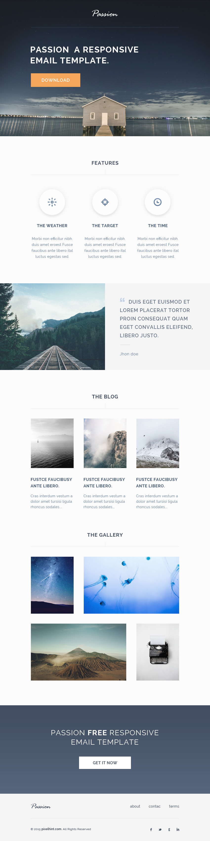 Passion HTML Responsive Email Template