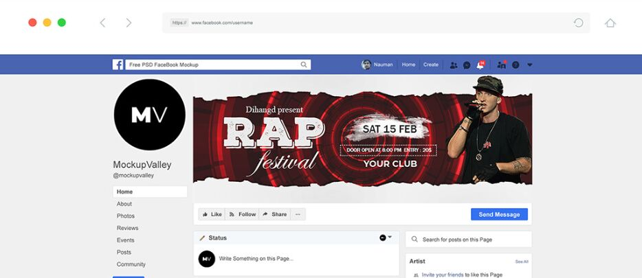 Diseño gratuito de portada de Facebook