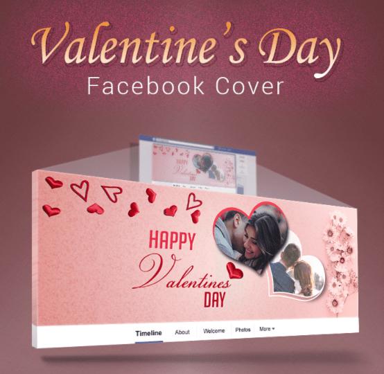 Portada gratuita de Facebook del Día de San Valentín