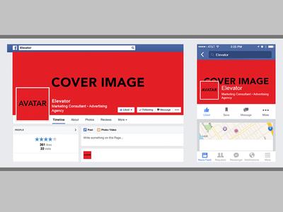 Plantilla de Facebook móvil y web