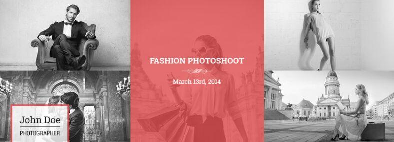 Plantilla de portada de línea de tiempo de Facebook para fotógrafos