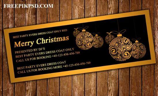 Gratis Feliz Navidad Facebook Cover Psd