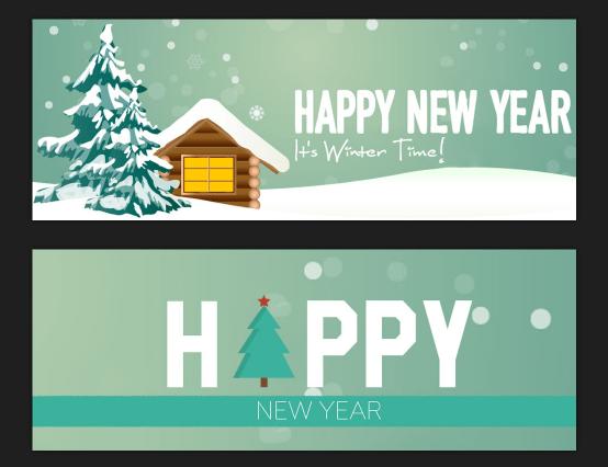 6 Plantilla de portada de línea de tiempo de Facebook de año nuevo gratis