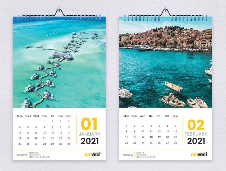 2021 Wall Calendar Descarga gratuita