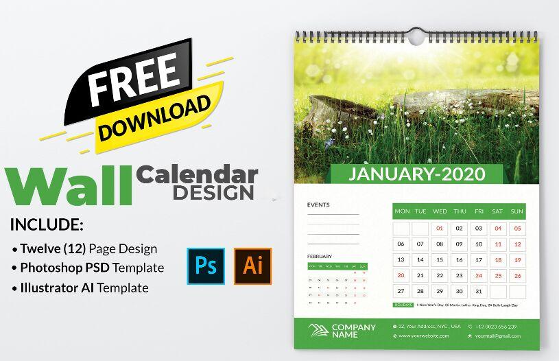 Descarga gratuita de diseño de calendario
