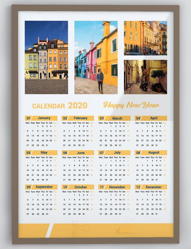Calendario Plantilla Vector