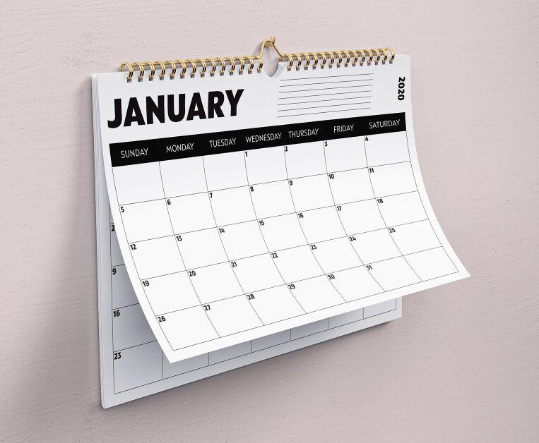 Calendario mínimo 2020