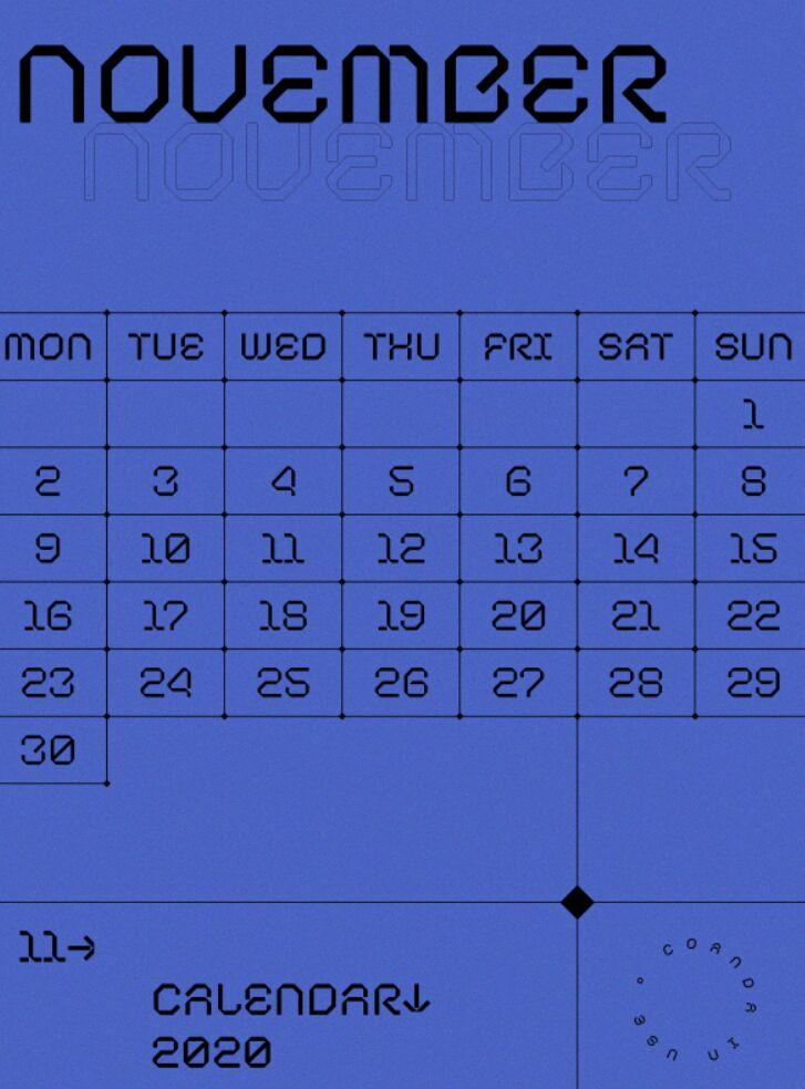 Bonito calendario PDF 2020