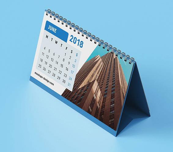 Maqueta de calendario de escritorio gratis