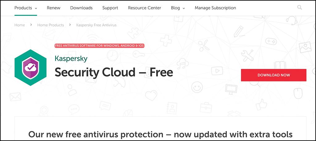 Antivirus Kaspersky Security Cloud Free