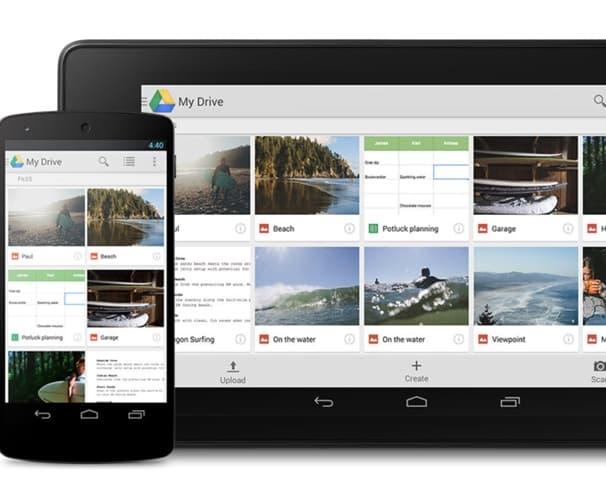 Captura de pantalla de Google Drive