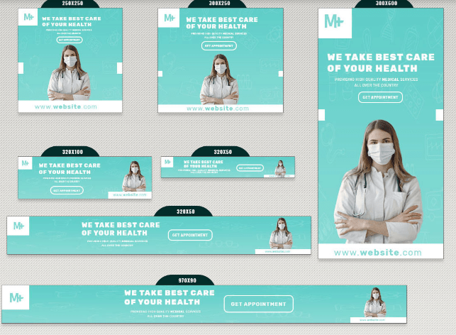 13 pancartas de salud médica