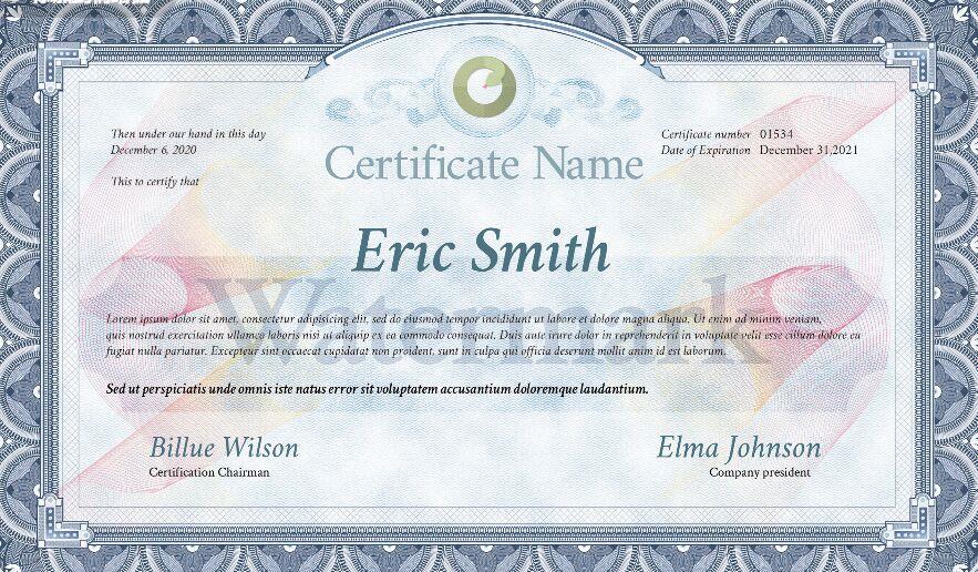 Certificado Templet Descarga gratuita